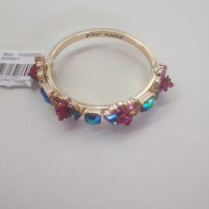 Betsey Johnson New Magenta Rose Bracelet